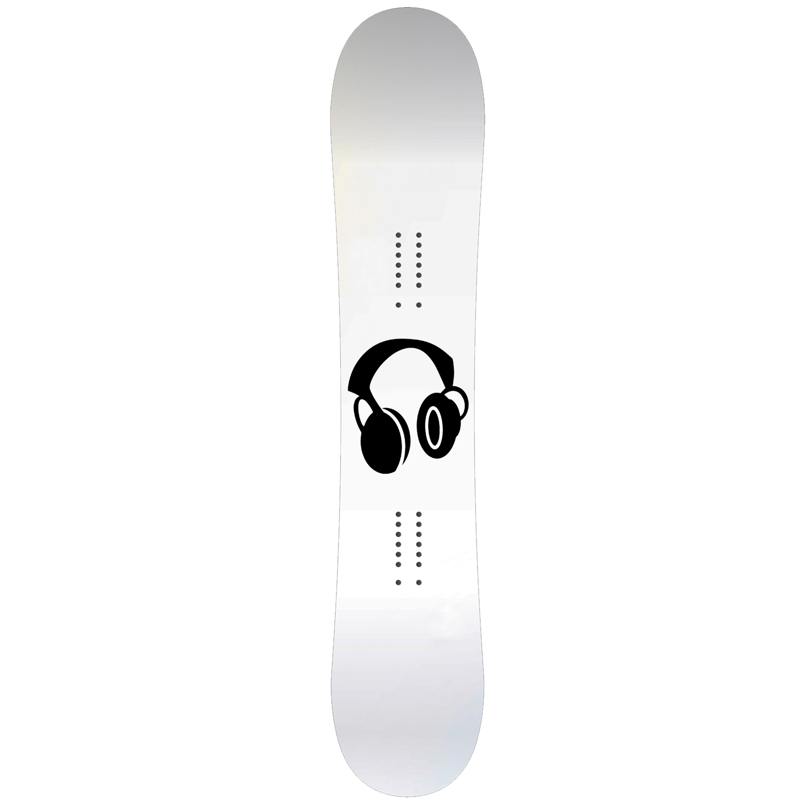 Music Headphones Snowboard Sticker All Weather Vinyl Decal